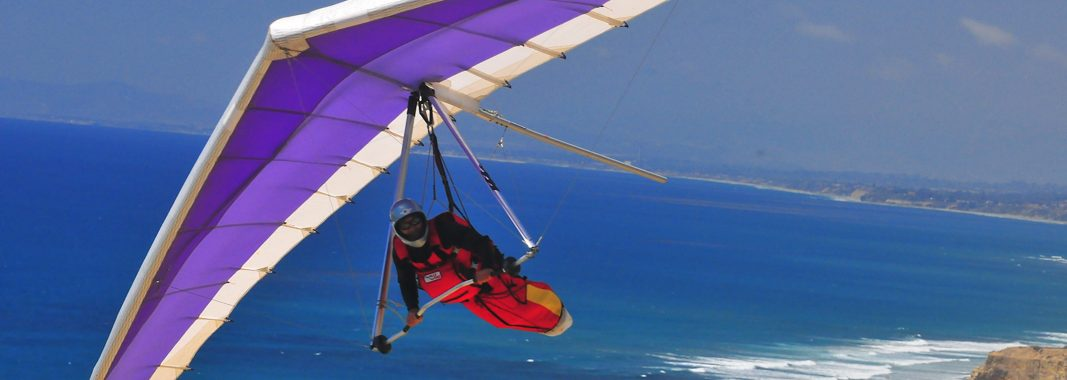 Hang Glider Pilot takes up Gliding